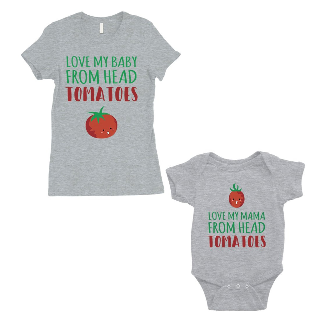 Love From Head Tomatoes Mom and Baby Matching Gift T-Shirts