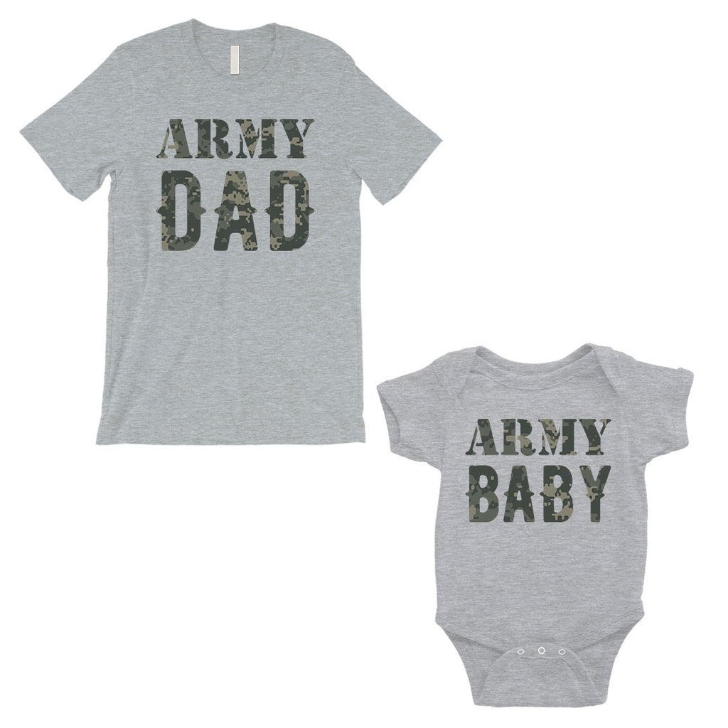 Army Dad Army Baby Dad and Baby Matching Outfits Father's Day Gift
