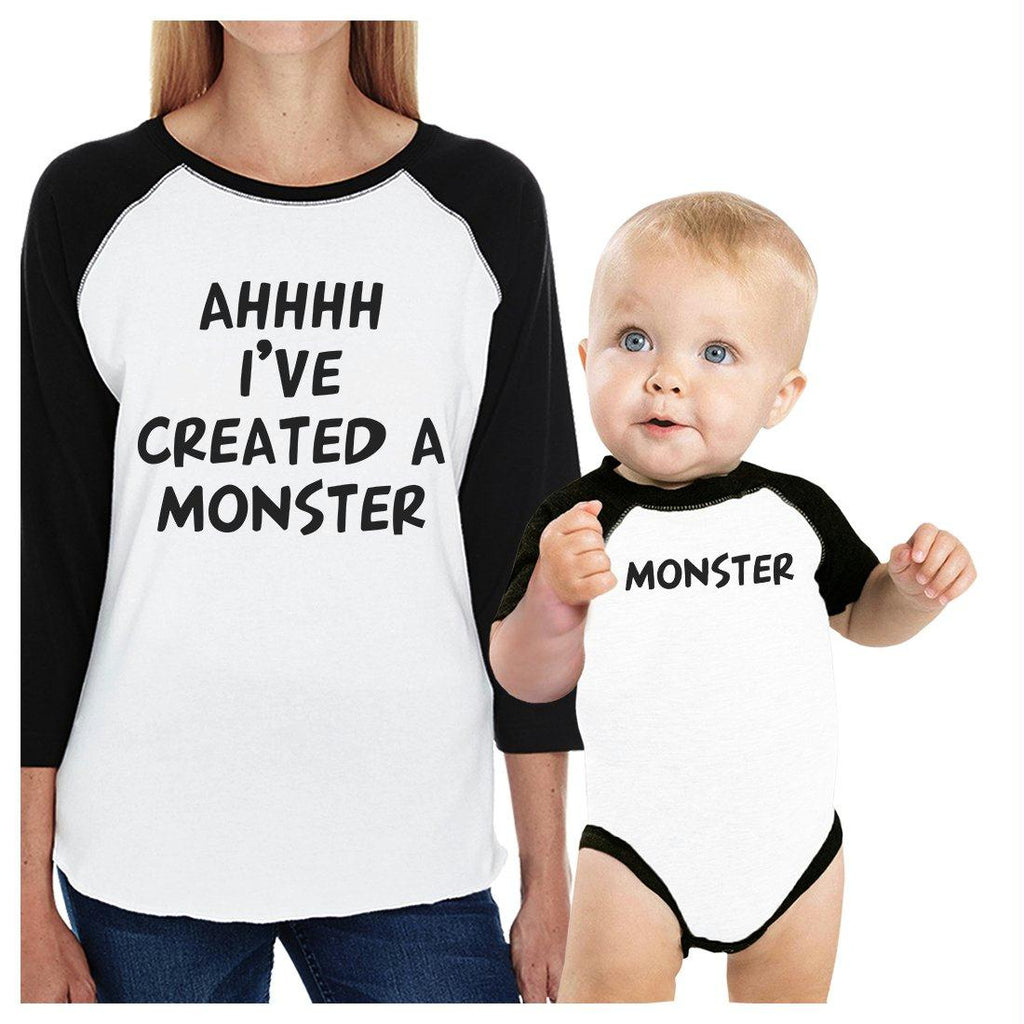 Created A Monster Mom and Baby Matching Baseball Shirts Mothers Day