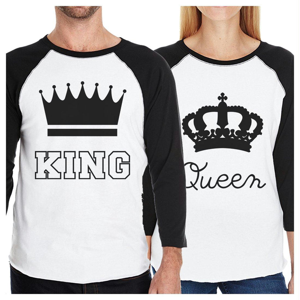 King And Queen Matching Couples Baseball Shirts Anniversary Gifts