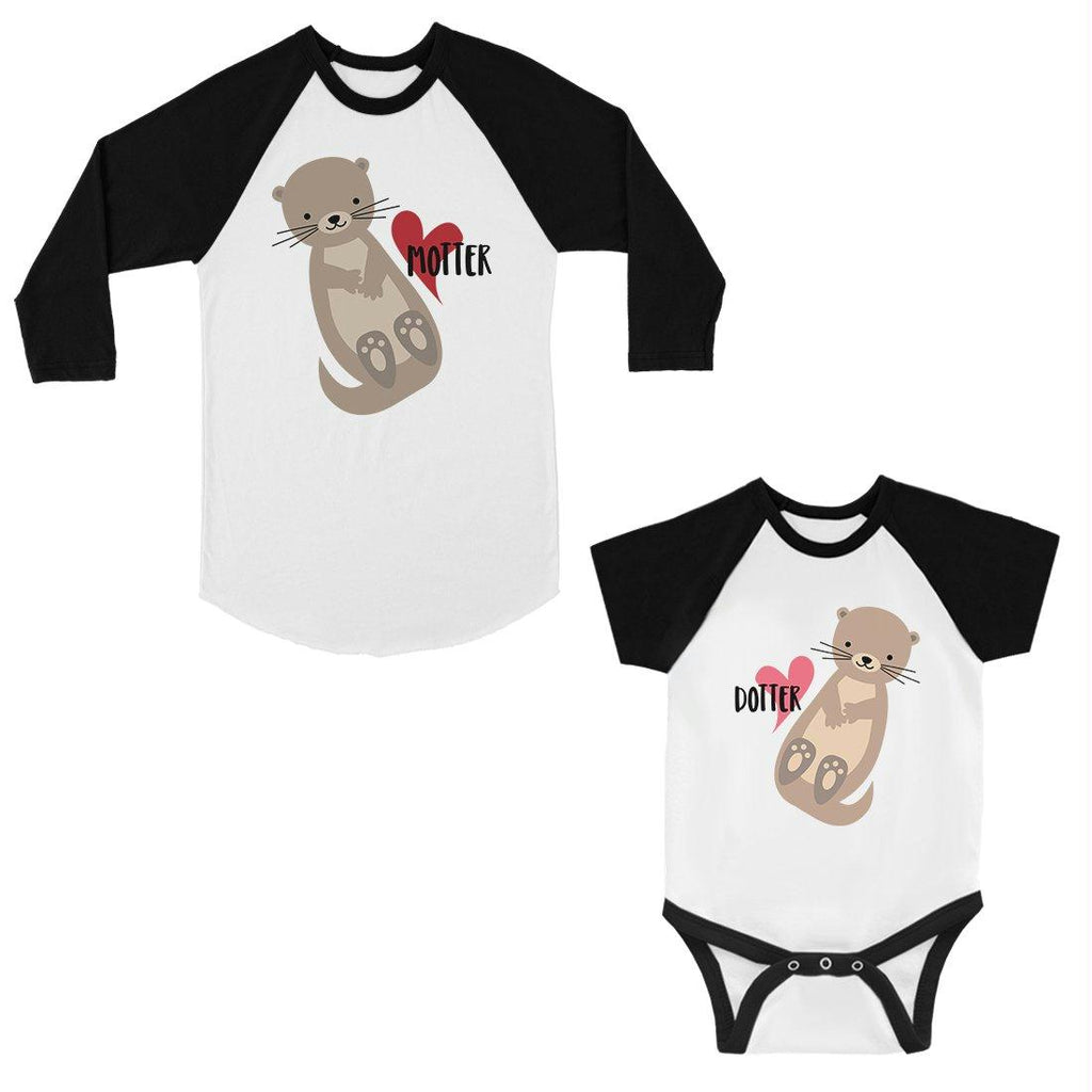 Motter Dotter Mom and Baby Matching Baseball Jerseys New Mom Gifts