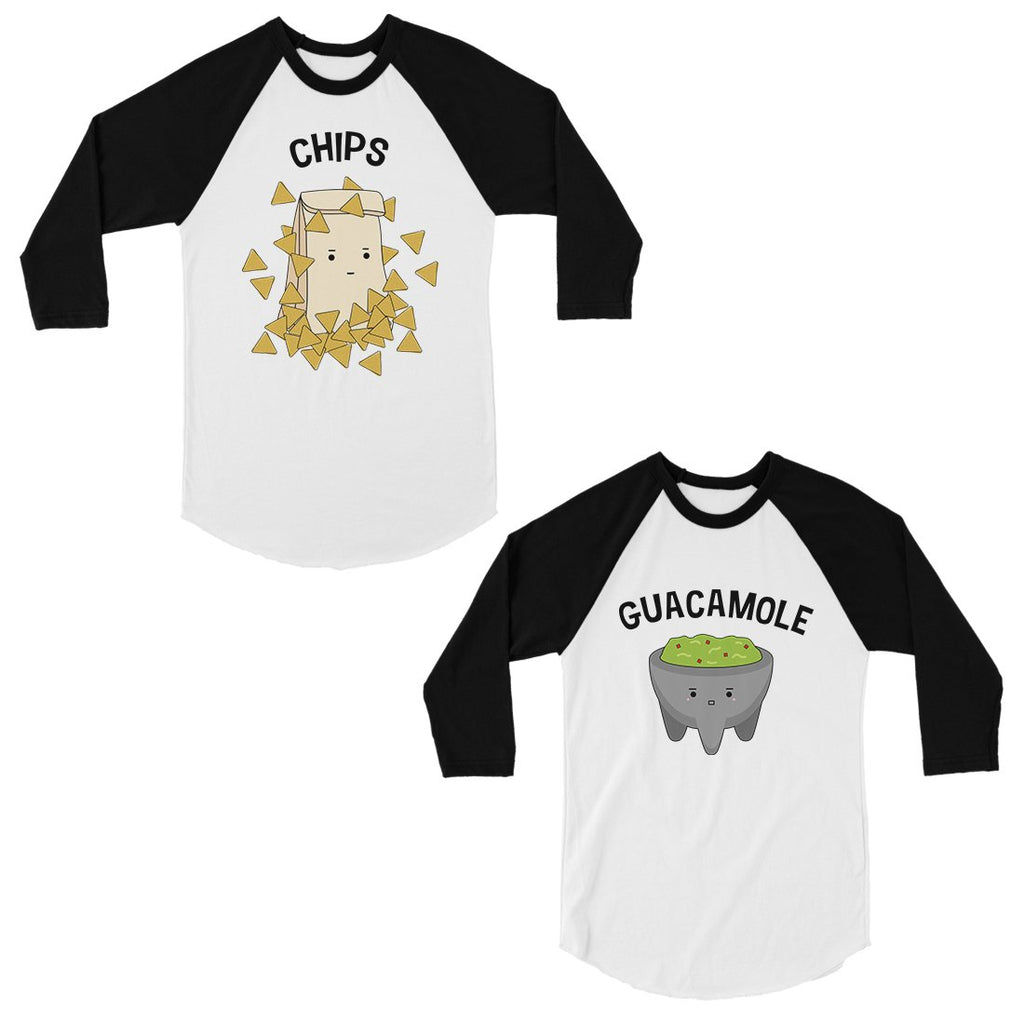 Chips & Guacamole Matching Baseball Shirts Funny Couples Gifts