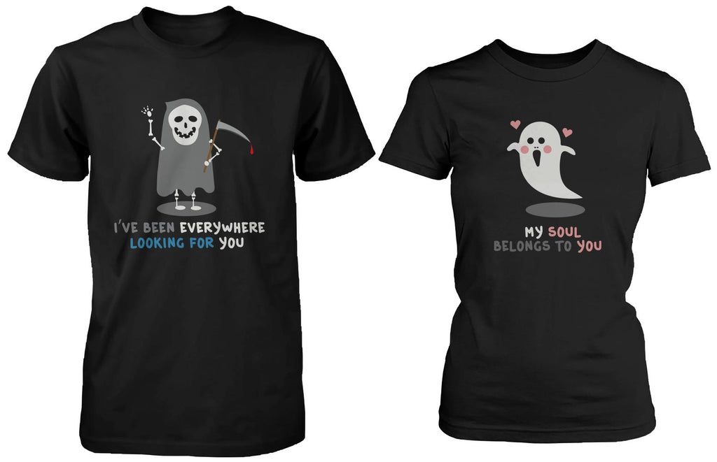 Cute Ghost Lovers Matching Couple Shirts (Set)