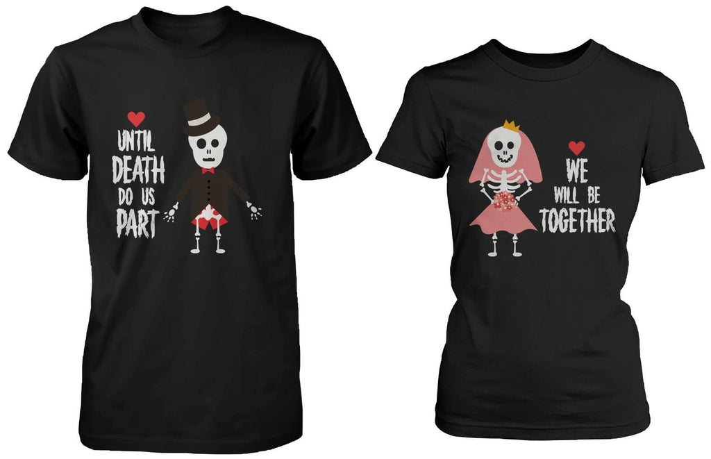 Cute Skeleton Wedding Matching Couple Shirts (Set)