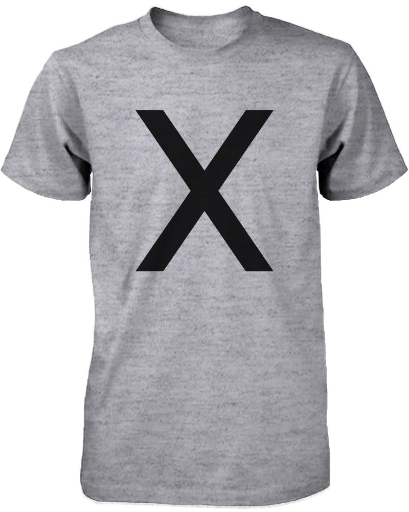 X O Couple Shirt His and Hers Tees Set XO T-shirt Short Sleeve Heather Grey