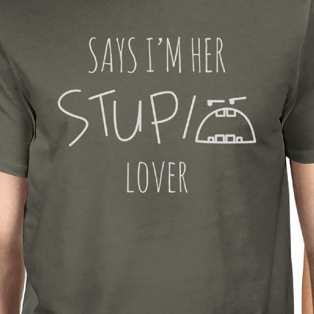 Her Stupid Lover And My Stupid Lover Matching Couple Dark Grey Shirts