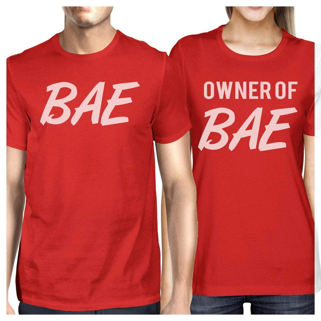 Bae And Owner Of Bae Matching Couple Red Shirts
