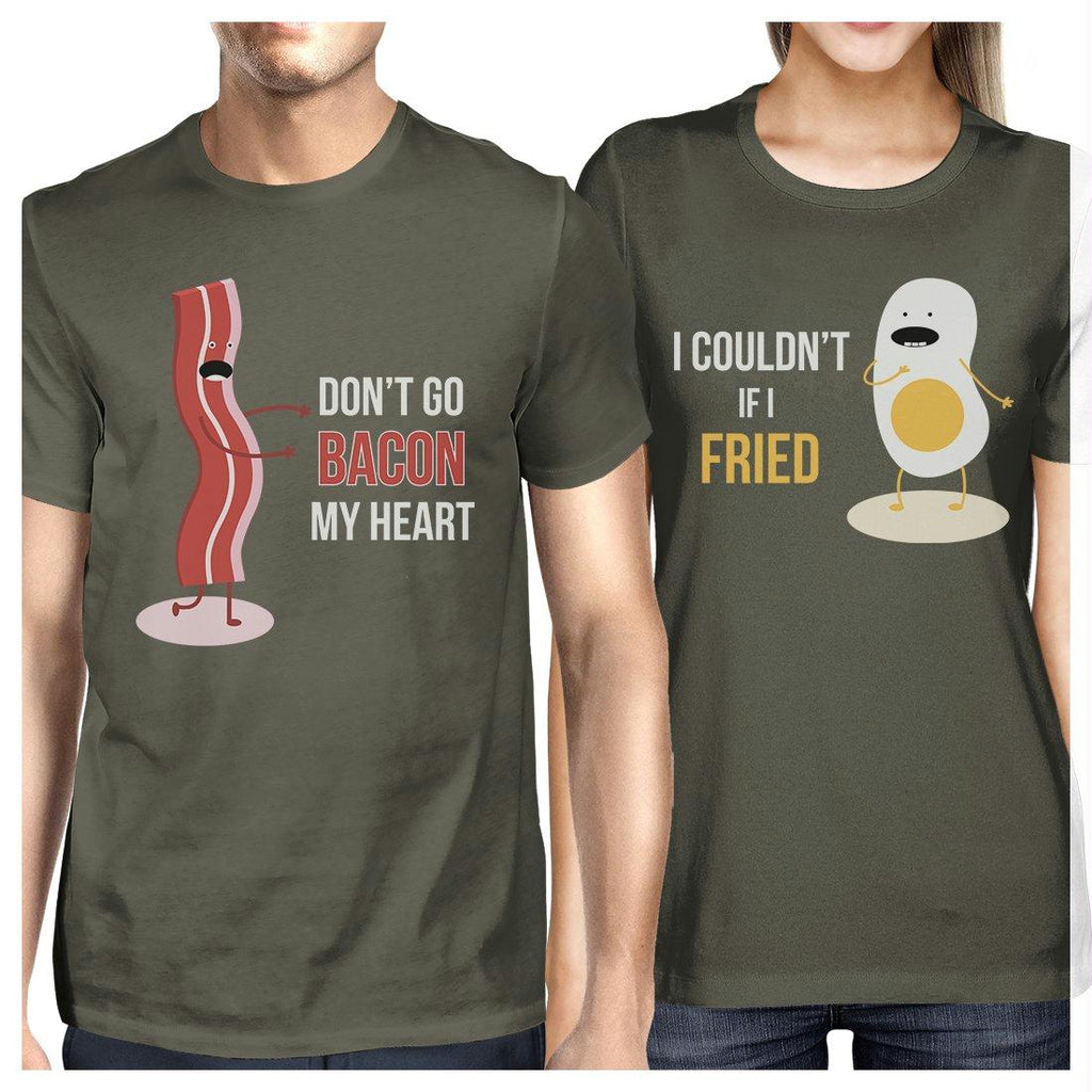Bacon And Egg Matching Couple Gift Shirts Cool Grey For Anniversary