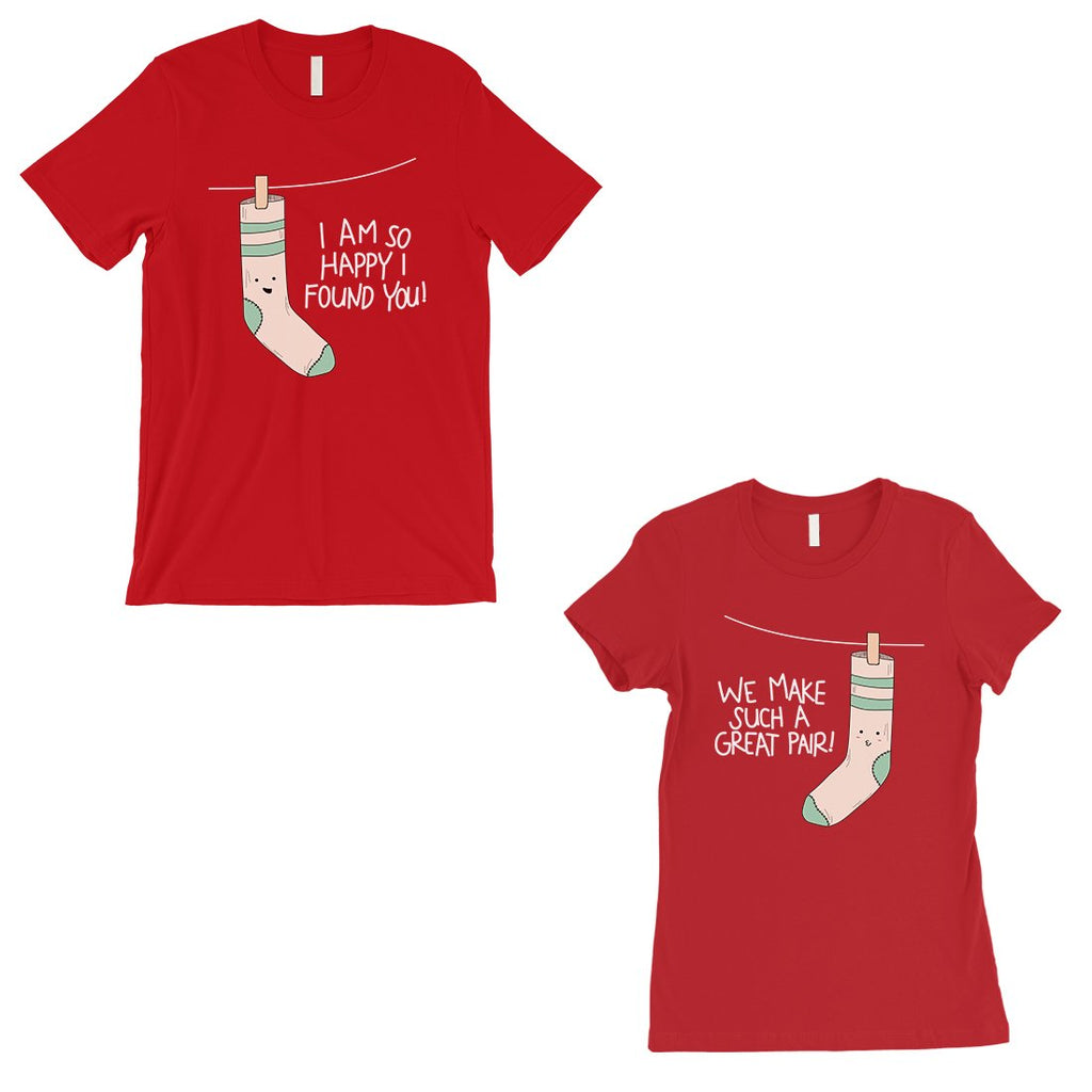 Socks Great Pair Matching Couple Gift Shirts Red Valentines Day
