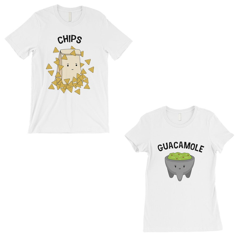 Chips & Guacamole Matching Couple Gift Shirts White For Newlywed