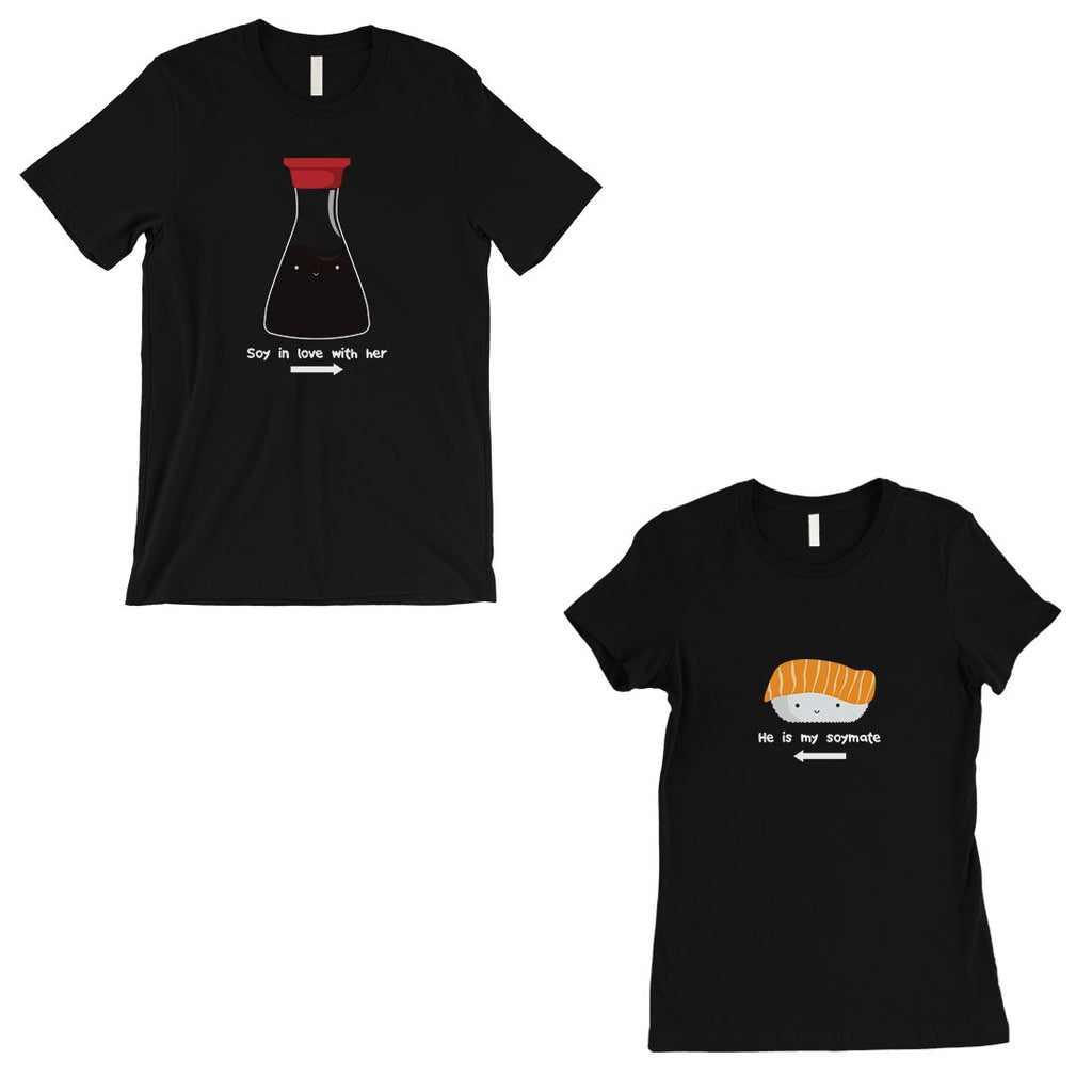 Sushi & Soy Sauce Matching Couple Gift Shirts Black Wedding Gift