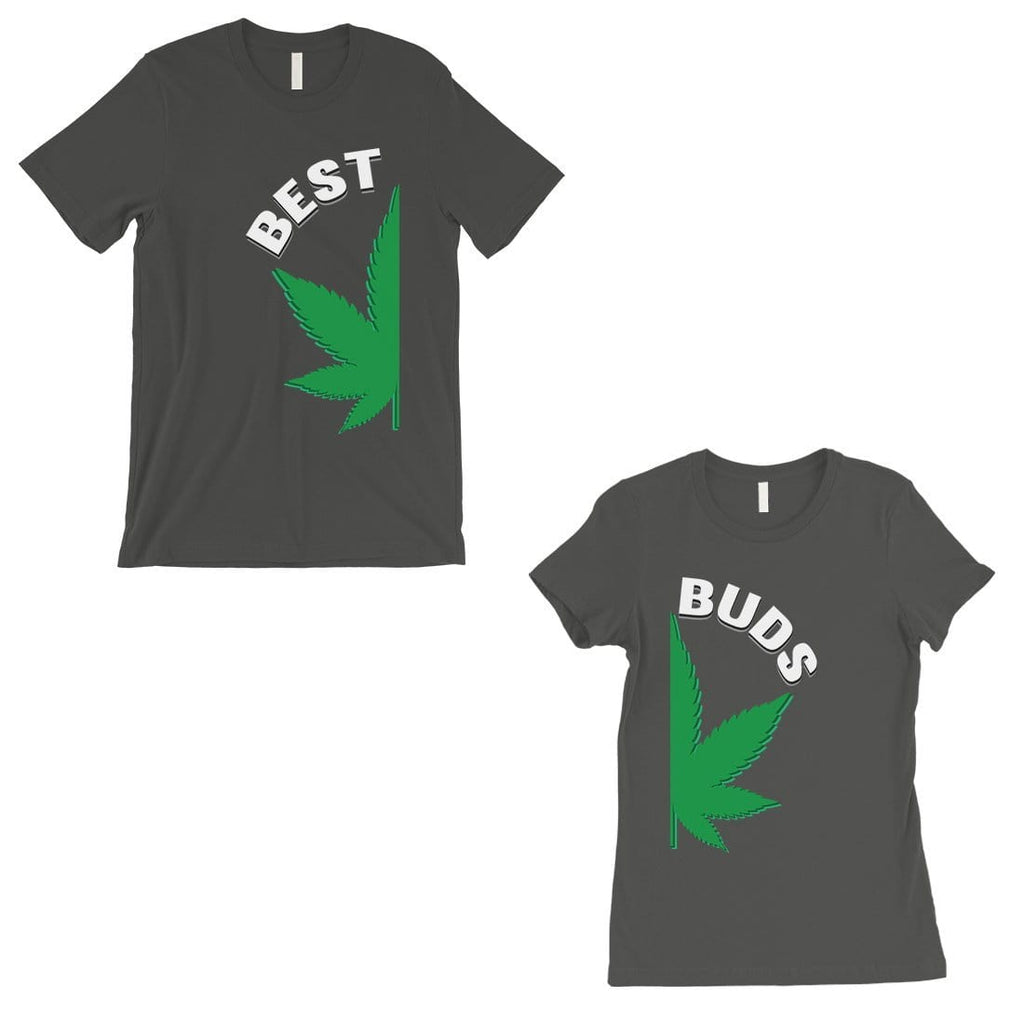 Best Buds Marijuana Matching T-Shirts Cool Grey Cute Couples Gift