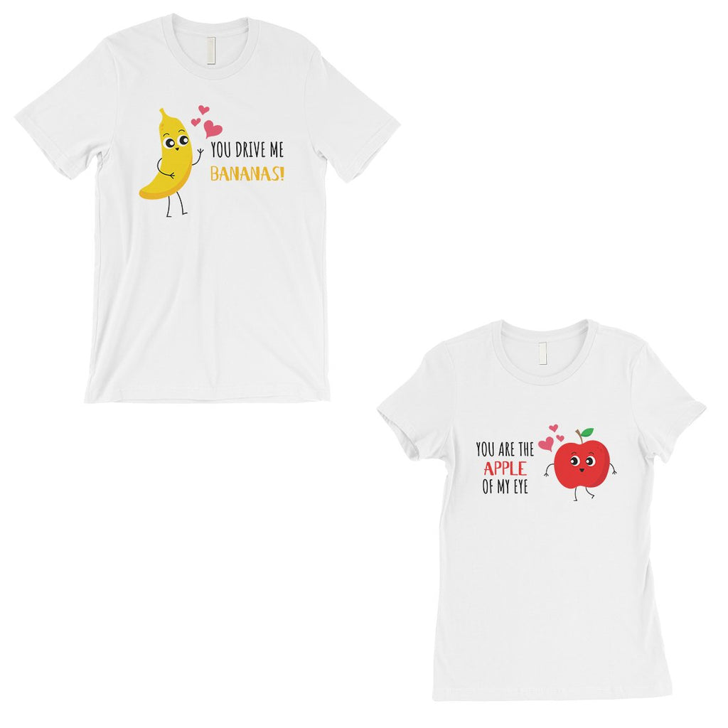 Drive Me Bananas Matching Couple Shirts White For Anniversary Gift