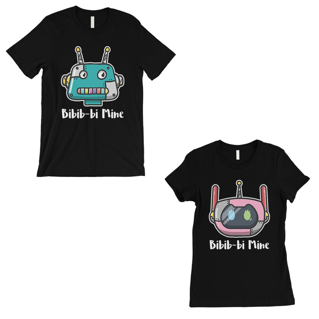 Bibib-bi Mine Couples Matching Gift Shirts Black Funny Wedding Gift