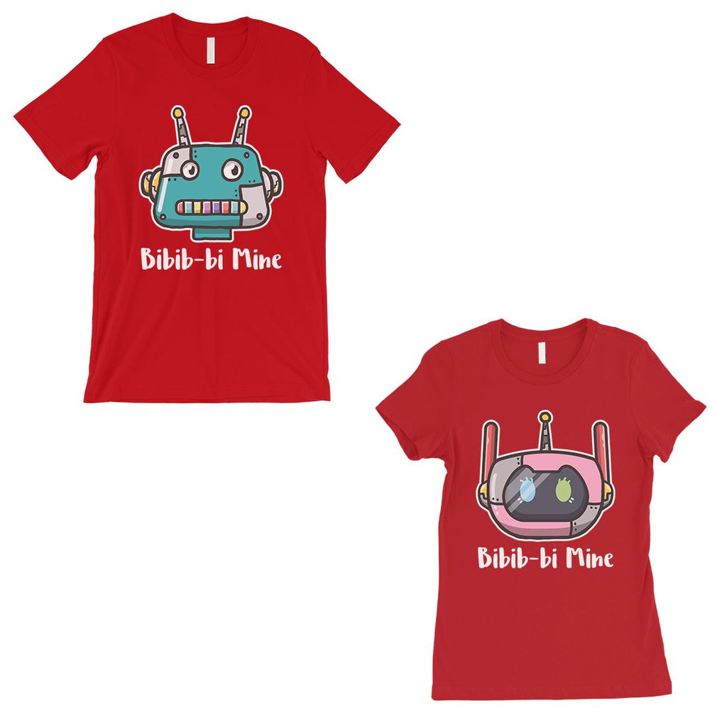 Bibib-bi Mine Couples Matching Shirts Red Cute Valentine's Day Gift