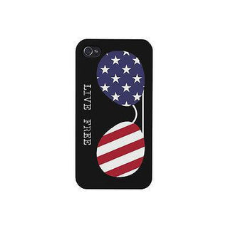 Live Free Sunglass US Flag Phone Case Funny Independence Day Outfit