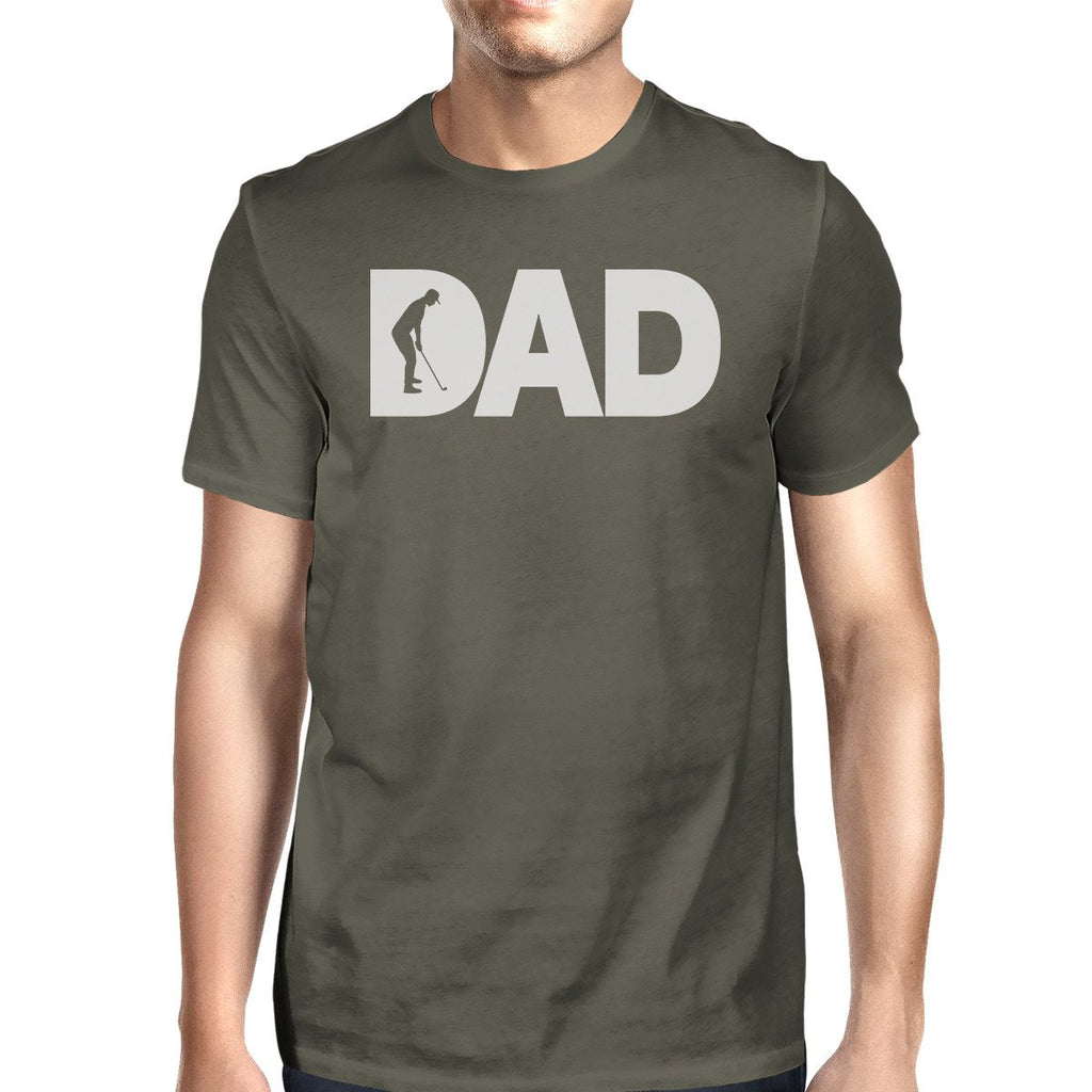 Dad Golf Mens Dark Grey Round Neck Tee Fathers Day Gifts For Dad
