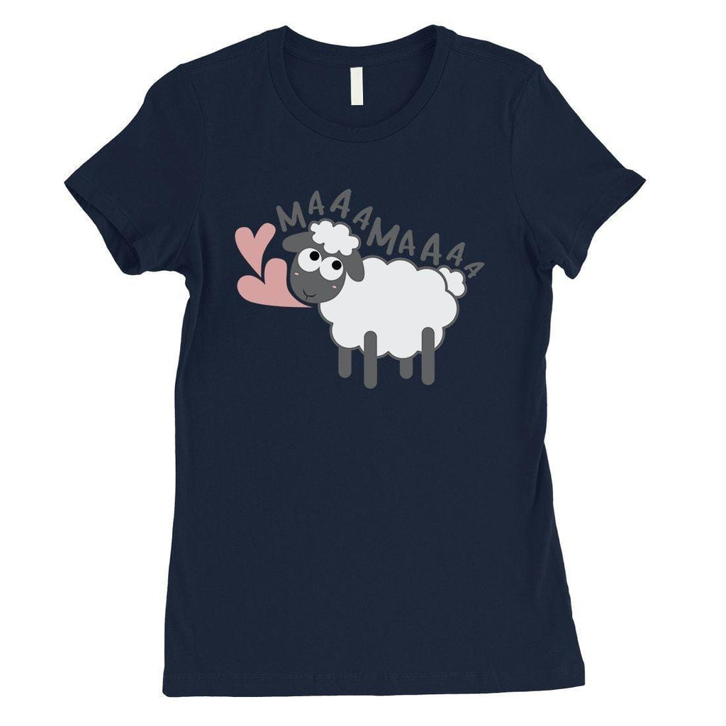 MaaaMaaa Sheep Womens Short Sleeve T-Shirt Funny Mothers Day Gift Tee