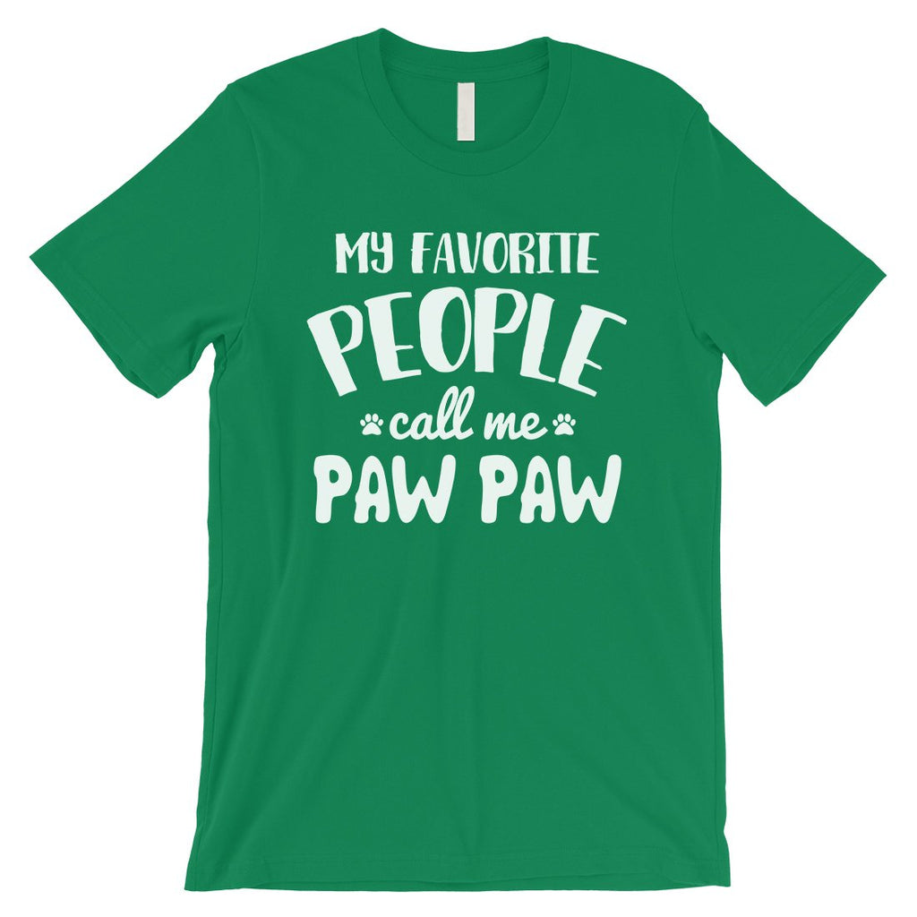Favorite People Paw Paw Mens Loving Cute Cool Dog Dad Shirt For Men