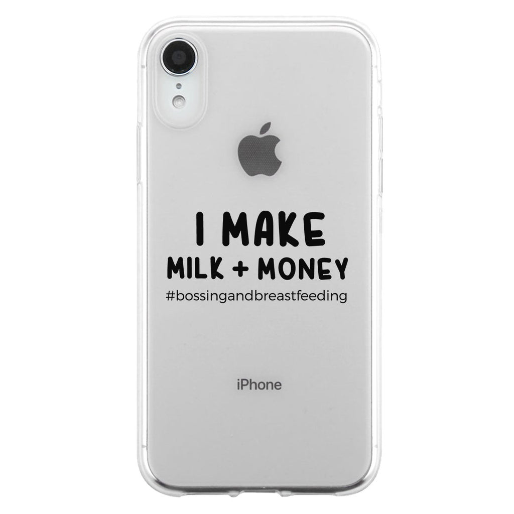 Make Milk Money Jelly Phone Case Funny Mom Gift For Mother's Day
