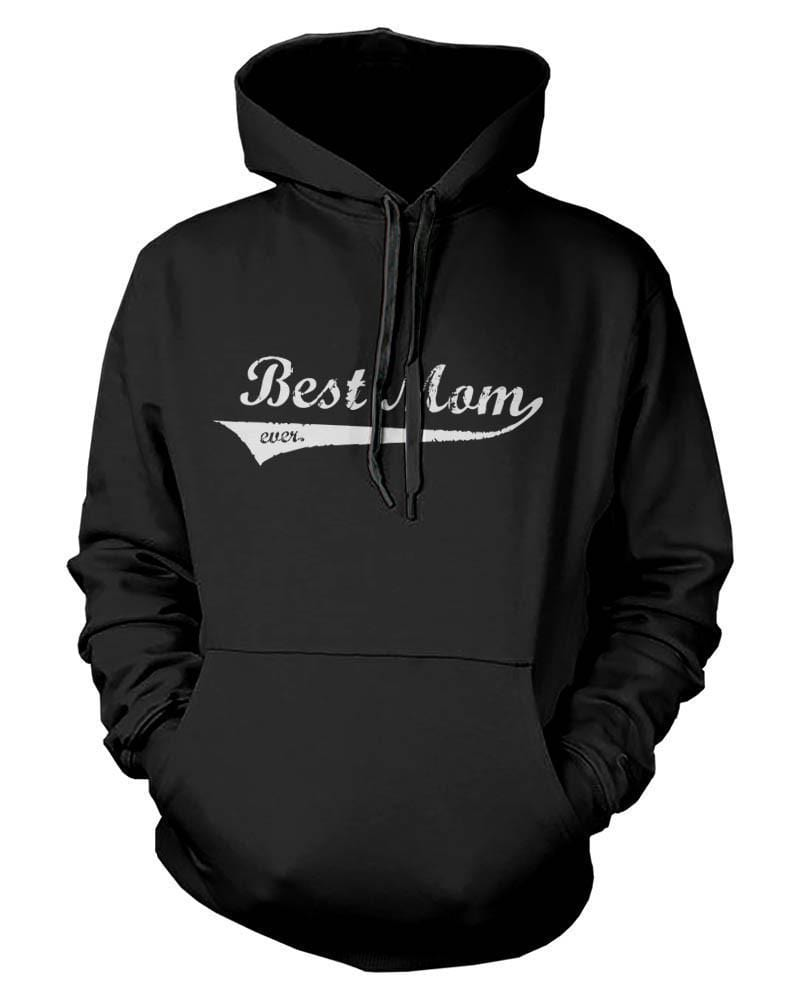 Best Mom Ever Mother's Day Design Printed Black Hoodie for Mother