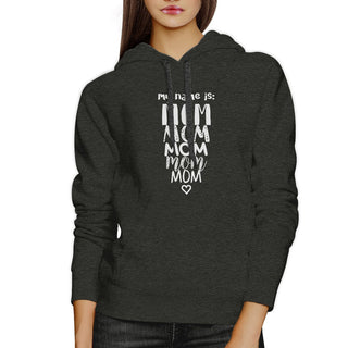 My Name Is Mom Dark Gray Unisex Unique Design Hoodie Gift For Moms