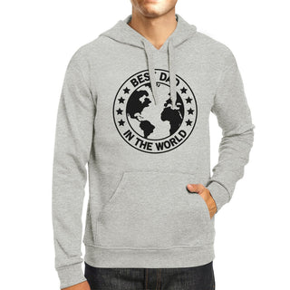 World Best Dad Unisex Grey Cute Hoodie Perfect Father In Law Gifts