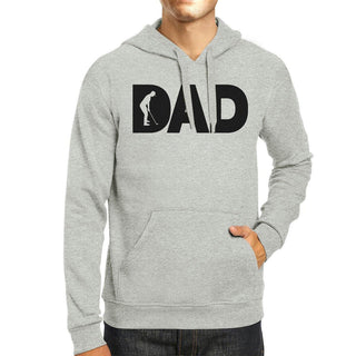Dad Golf Unisex Grey Hoodie Funny Design Hoodie For Golf Lovers