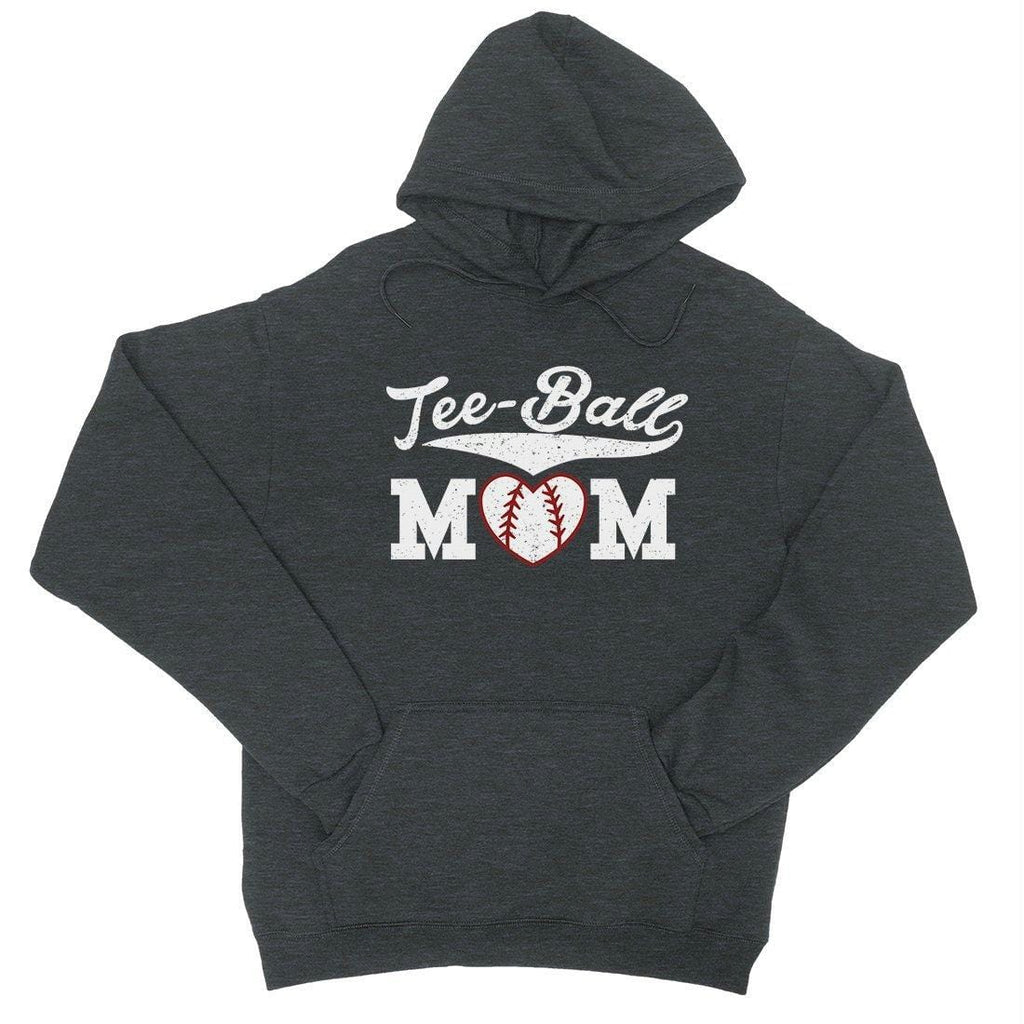 Tee-Ball Mom Mens/Unisex Pullover Hooded Sweatshirt Mothers Day Gift For Baseball Mom