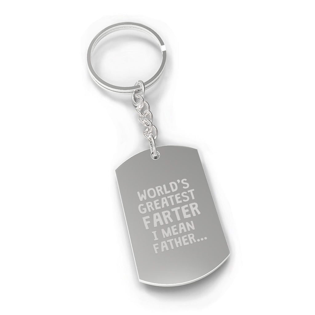 Farter Father Fathers Day Gift Novelty Key Chain Engraved Fun Gift