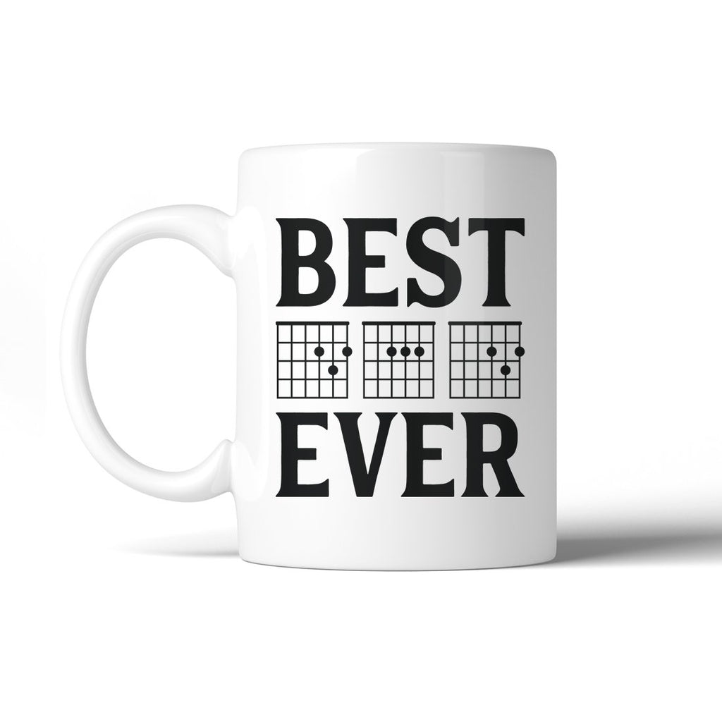 Best Dad Ever Guitar Chord 11 Oz Ceramic Coffee Mug Proud Creative