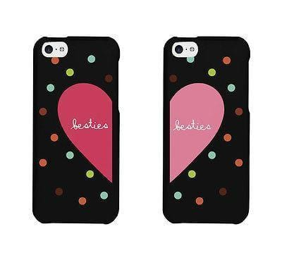 Besties Heart And Dots Pattern BFF Matching Phonecases Cute Phone cover