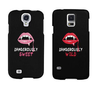 Dangerously Sweet And Wild Lips Cute BFF Matching Phone Cases Gift