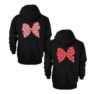 Funny Crazy and Crazier BFF Matching Best Friend Hoodies Front Back Design