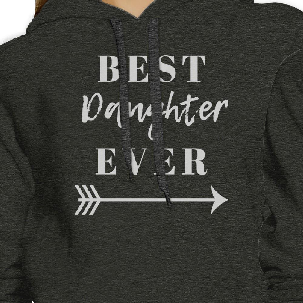 Best Daughter Mother Ever Dark Gray Cute Hoodie Funny Mothers Gifts
