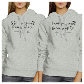 She Is Gorgeous Grey Cute Couple Hoodie Funny Mothers Day Gifts