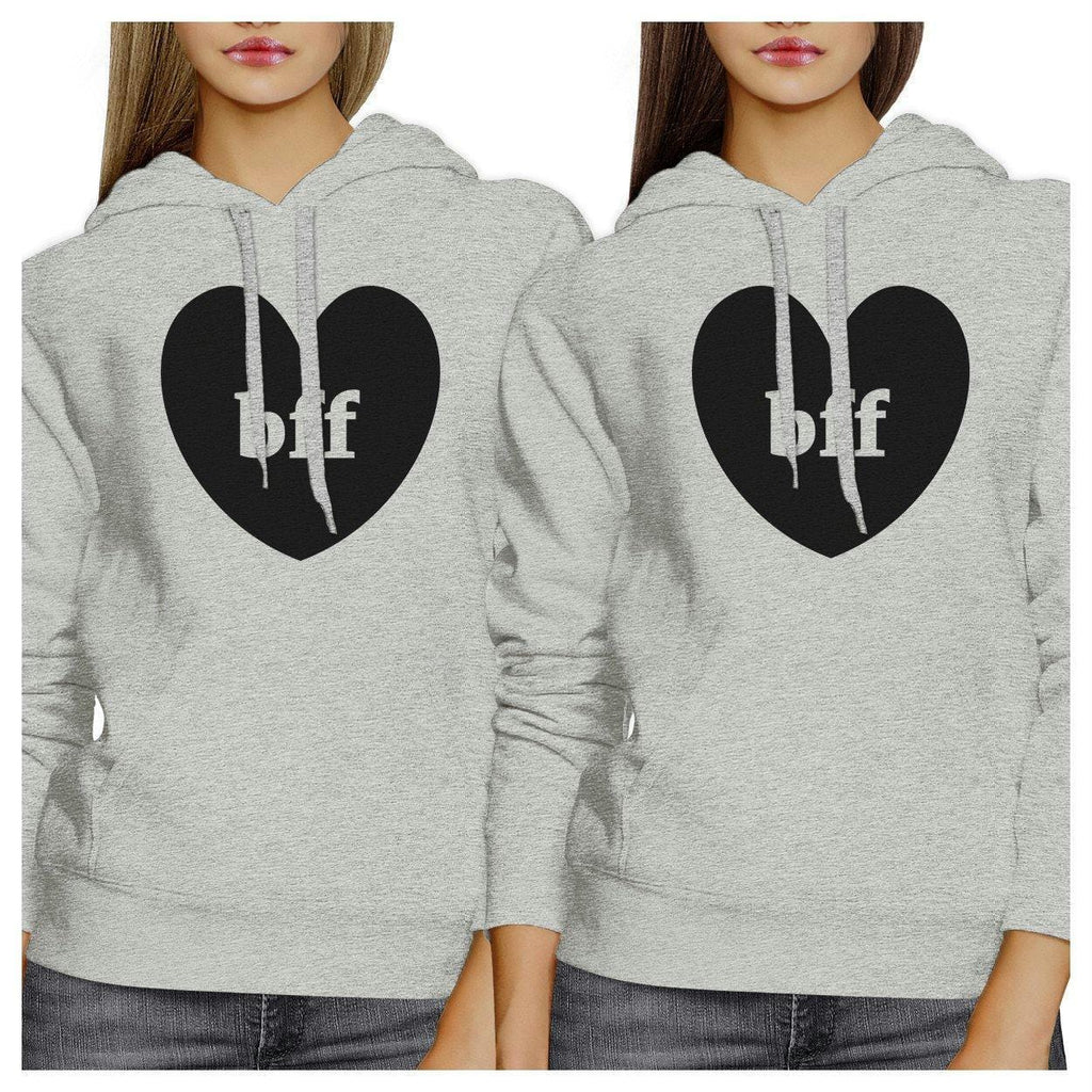 Bff Hearts BFF Matching Grey Hoodies