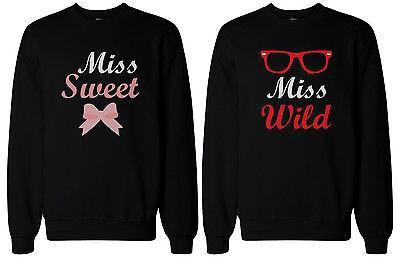 BFF Matching SweatShirts Sweet and Wild Sweaters for Best Friends