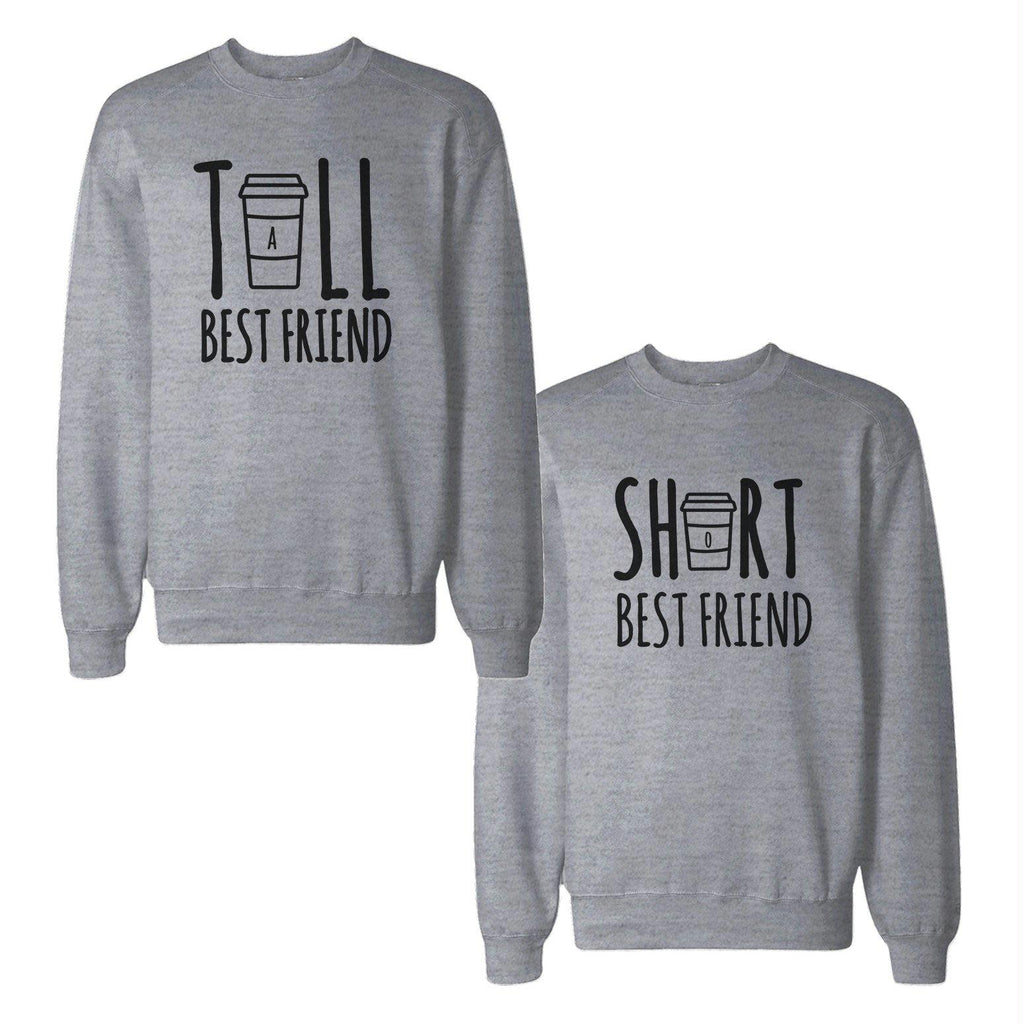 Tall And Short Best Friends BFF Sweatshirts Matching Sweat Shirts