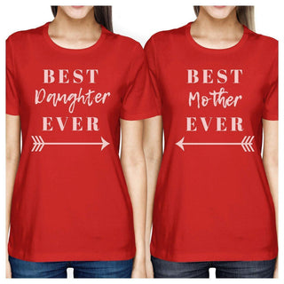 Best Daughter & Mother Ever Red Womens Short Sleeve T Shirt For Mom