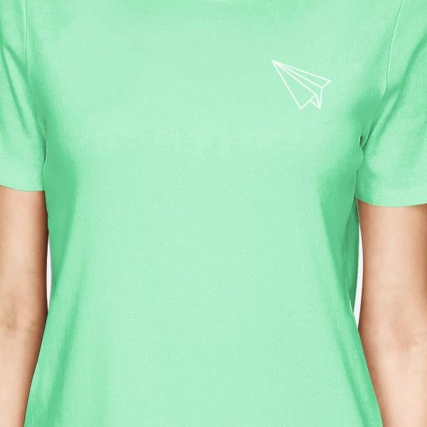 Origami Plane And Boat BFF Matching Mint Shirts