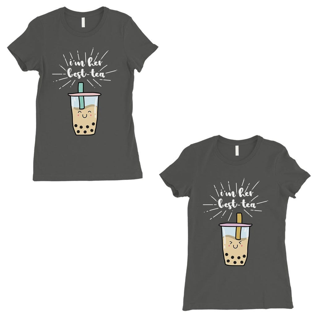 Boba Milk Best-Tea BFF Matching Shirts Womens Cool Grey T-Shirt