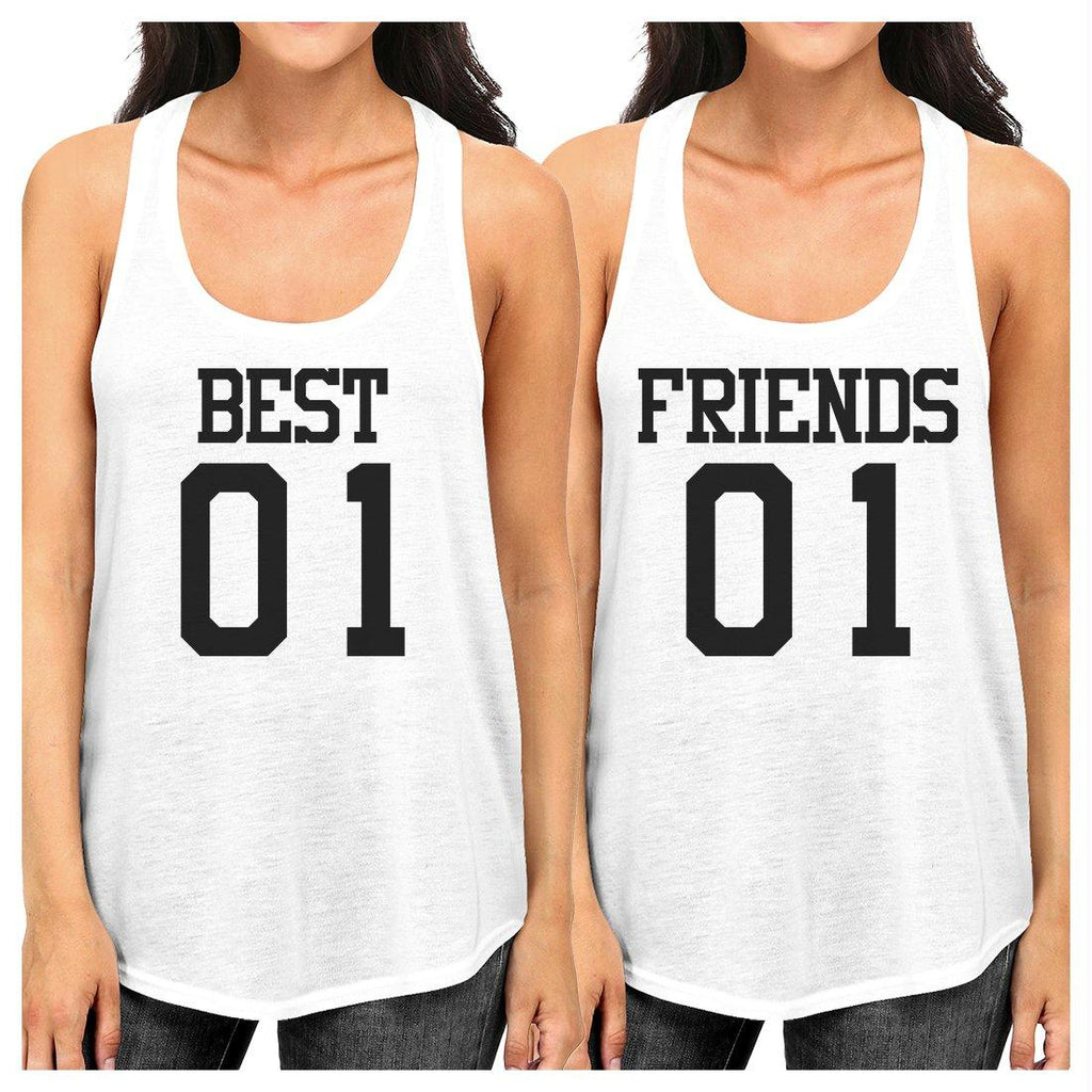 Best01 Friends01 BFF Matching Racerback Tank Tops