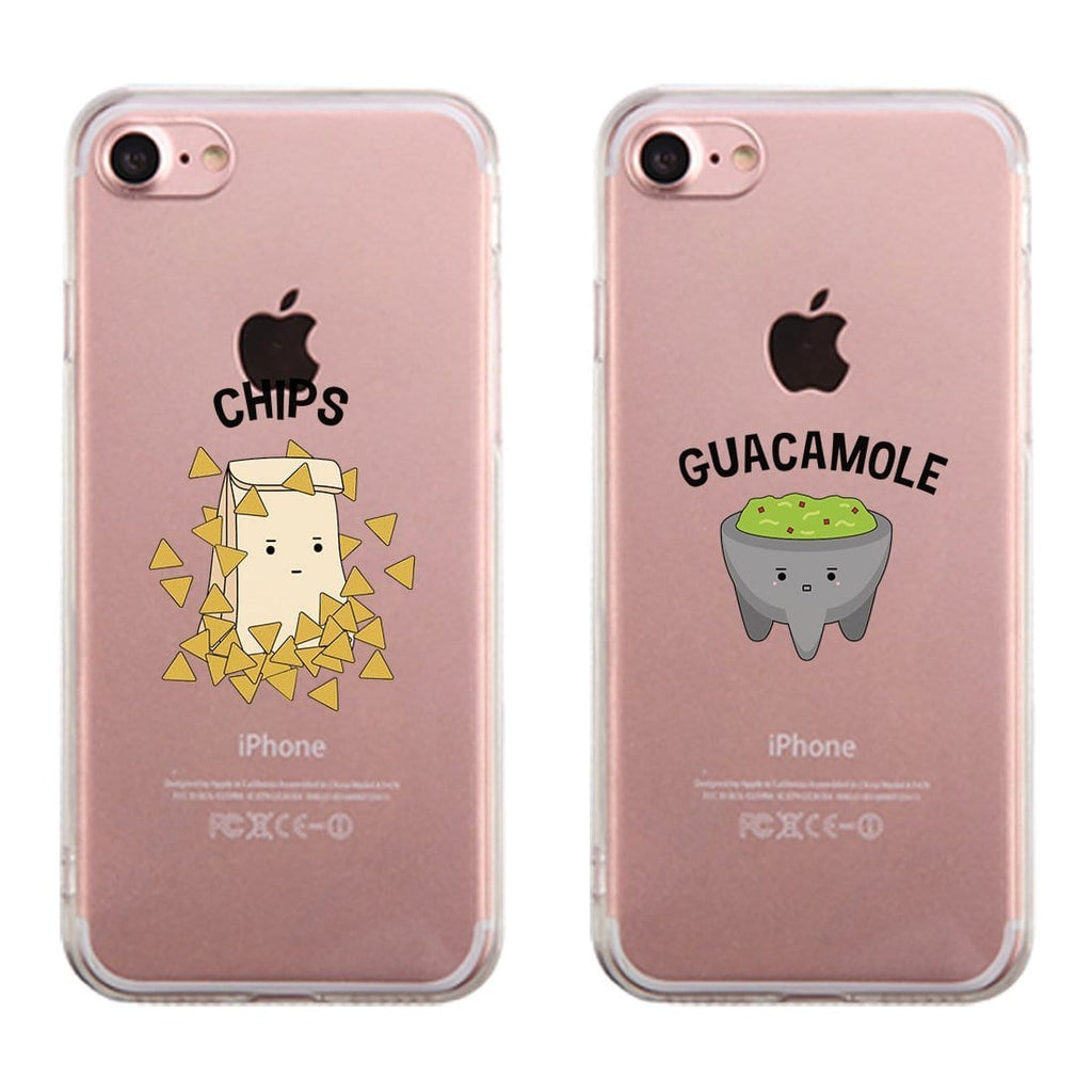 Chips & Guacamole Matching Phone Cases Transparent Best Friend Gift
