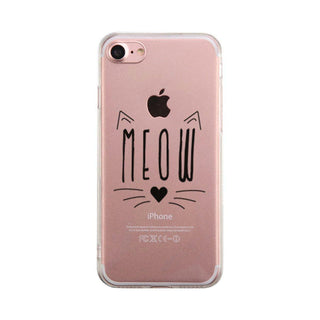 Meow Kitty Face Phone Case Cute Clear Phonecase