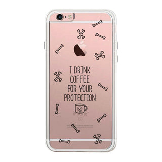 Coffee For Your Protection Cover Cute Clear Phonecase