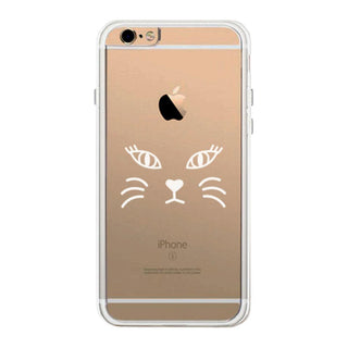 Cat Face Phone Case Cute Clear Phonecase For Cat Lover