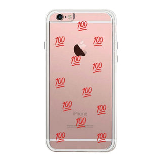 100 Points Phone Case Cute Clear Phonecase For Students