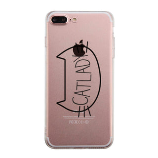 Catlady Phone Case Cute Clear Phonecase For Cat Lover
