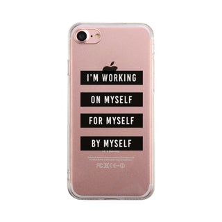 On Myself For Myself By Myself Case Clear Phone Cover